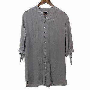 Club Monaco 100% Silk 3/4 Tie Sleeve Tunic Blouse